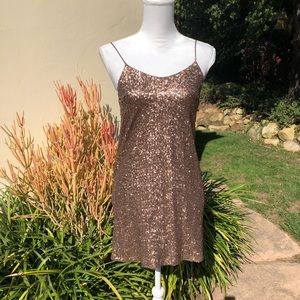 NWT Millau Gold Sequin Mini Dress